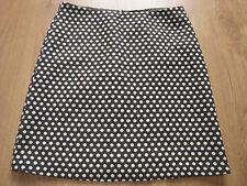 14 Phase Eight skirt wool blend brown white polka dot work smart
