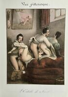 Erotic Sex Penis Breast Vagina Antique Love Art Oral Lithography France 1830