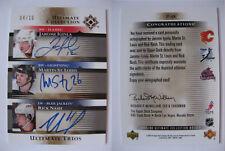 2005-06 UD Ultimate St Louis Nash Iginla 04/10 ultimate trios signatures RARE