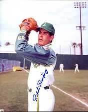 Roberto Rodriguez (D.) signed 8x10 photo w/ Oakland Athletics 1967 INPERSON