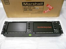"""Demo Marshall OR-702 dual 7"""" LCD Orchid monitor rack with HD-SDI Boland/Flanders"""