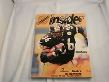 "STEELERS INSIDER PROGRAM ""NEW"" 9-27-98 PITTSBURGH STEELERS vs. SEATTLE SEAHAWKS"