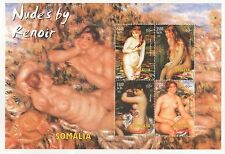 NUDES BY RENOIR IMPRESSIONISM PAINTING ART SOMALIA 2002 MNH STAMP SHEETLET