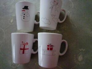 4 ASA Happy X-mas Kaffeebecher Haferl Glühweintassen Weihnachten 250 ml