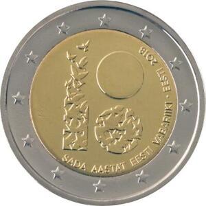 Estonia 2 euro 2018 commemorative coin 100th Anniversary - Estonia UNCIRCULATED