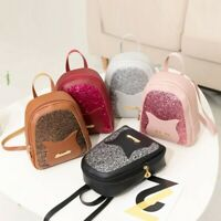 Fashion Women Shoulders Small Backpack Leather Shoulder Bag Patchwork Zip Bags