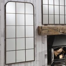 "Rochester Large Urban Chic Metal Frame Rustic Wall Window Mirror 50"" x 24"""