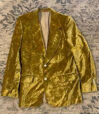 TOM FORD FOR YVES SAINT LAURENT Men's Gold Velour / Velvet Blazer Sz 48 R ITALY