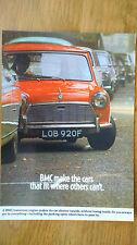 148 BMC Austin Mini Mk2 1968 Postcard Vintage Ad Galllery FREE Postage **MINT***