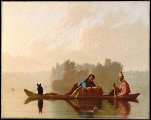 Print Poster george caleb bingham fur traders descending the missouri 1845