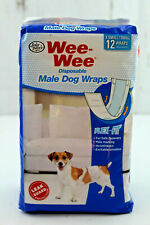 Four Paws Wee-Wee Disposable Male Dog Wraps Flex Fit XS / Small 12 Count Unused