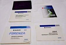 2004 SUZUKI FORENZA OWNER MANUAL 5/PC.SET & BLACK SUZUKI FACTORY CASE. FREE S/H