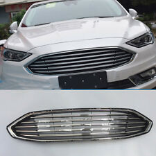 Chrome Front Bumper Radiator Hood Grill For Ford Fusion 2017 ABS Grille