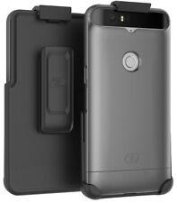 Nexus 6P Belt Case,(SlimShield) Secure Holster Clip + Slider Shell (Silver)