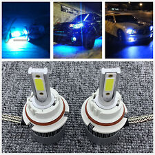 9004 HB1 CREE LED Headlights Bulbs Kit High & Low Beam 8000k ice blue 55W 8000LM