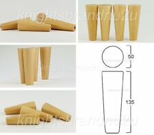 4x RETRO WOODEN FEET REPLACEMENT FURNITURE LEGS SOFA SETTEES BEDS PRE DRILLED