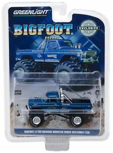 Greenlight 1:64 1974 Ford F-250 The Original Monster Truck Bigfoot #1 Blue 29934