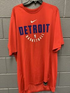 Nike Detroit Pistions Combine Shirt Mens 2XLT Red
