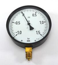 """WIKA Manometer Ø160mm senkrecht -1 - +1,5 bar G 1/2"""" Kl. 1,0 NEU OVP"""
