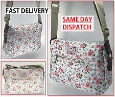 New Blue Vintage Flower Floral Crossbody canvas messenger Shoulder Bag Satchel