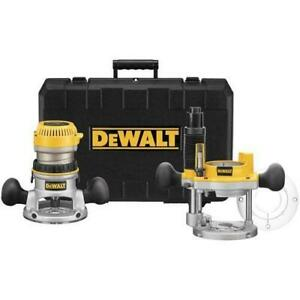 DeWALT DW616PK 1-3/4 HP Fixed Base Plunge Router Woodworking Tool Kit