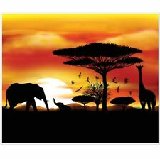 Safari Giant 5' x 6' Wall Mural Safari Jungle Zoo Birthday Party