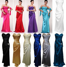 Long Dress Bridesmaids' Formal Wedding Occasion Pageant Prom Purple SZ S FIT 6