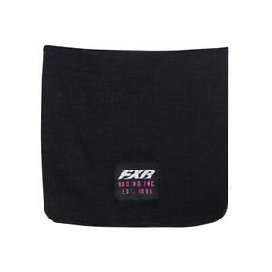 FXR Infinite Neck Warmer Soft Acrylic Knit Embroidered Logos