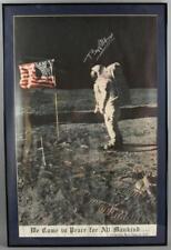 Buzz Aldrin Signed Poster 1969 Moon Walk Lot 2451