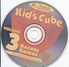 rare vintage software - Kid's Cube Cd -Volume 3 - Recess Games by Aztech
