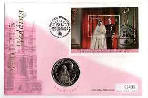 Turks & Caicos 1997 Golden Wedding 5 Crowns Coin Cover