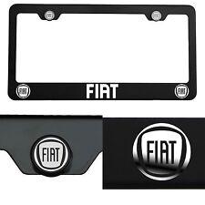 Laser Engraved Fiat Mirror Matte Black License Plate Frame T304 Stainless Steel
