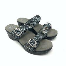 Dansko Sophie Shagreen Slide Sandals Black Women's Size 40 US Size 9.5-10 EUC