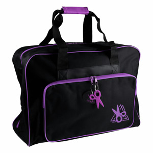 Hobby Gift Sewing Machine Bag Carry Case: Black/Purple
