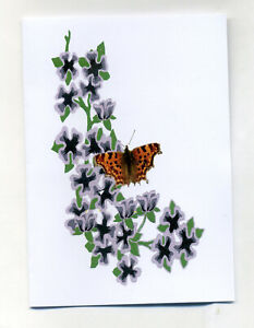 10 COMMA LETTER CARD NOTELETS WITH NO ENVELOPES [FREE P&P]