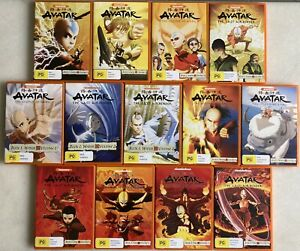 AVATAR R4 DVD The Legend Of Aang, Last Air Bender, Complete Books 1, 2, 3 AS NEW