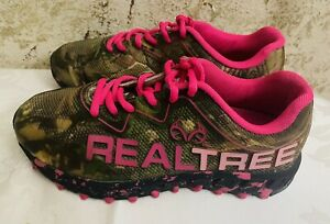 REALTREE GIRL PM PANTHER Camo Hot Pink Sneakers- Women Sz 9M
