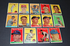 1958 TOPPS, fill your set YOU PICK 8 CARDS from a lot of 497 *VG & LOWER*ii