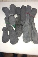 9 PAIRS OF CANADIAN ARMY COLD WEATHER  WOOL SOCKS - SMALL SIZE 7-8 Green Top