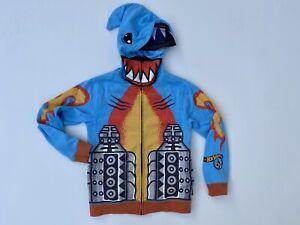 VOLCOM boys blue shark hoodie size 7 XL