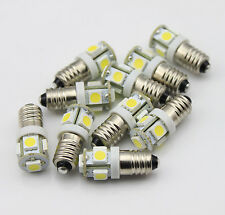 10pcs 24V E10 1447 style Screw 5 LED SMD White Bulb Light DIY LIONEL