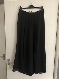 """Ladies - Women's - Trousers Size Uk 12 - Eur 40 - Black -Culottes - TU - L27"""""""