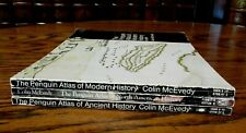 Penguin Atlas of: Modern History, North American; Ancient; lot of 3, McEvedy