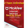 Mcafee Internet Security 2020 Unlimited Devices 2 Year 2019 Download Version