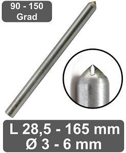 Gravierdiamant Kegel- / Rundschliff - Hochglanz Ritzgravur in Metal Gold Silber