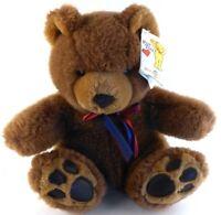 Mary Meyer KINGSLEY Brown Soft Teddy Bear Stuffed Plush with Tags 1990