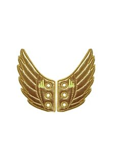 Gold Wings Shwings Shoe Accessory Charm- Lace Onto Any Shoe Sneakers.