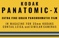 Kodak  Panatomic-X 35mm Film Box 1940s Reproduction