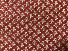 ~Back In Time Textiles~Antique 1860 turkey red Fabric 8 pcs