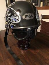 Clean~ Bell Motorcycle Helmet Blue/Silver/Black Flame Design Medium